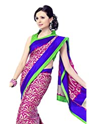 Sudarshan Silksfancy Sarees-Multicolor-Ssm5427-Art Silk Georgette