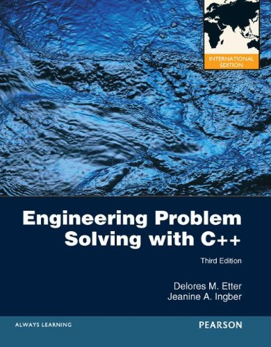 Engineering Problem Solving with C++ (3rd, International Edition)