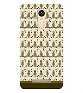 PrintDhaba Owl Pattern D-1649 Back Case Cover for XIAOMI REDMI NOTE 3 PRO (Multi-Coloured)