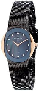Skagen Slimline 589SRM - Reloj de mujer de cuarzo (japonés), correa color marrón