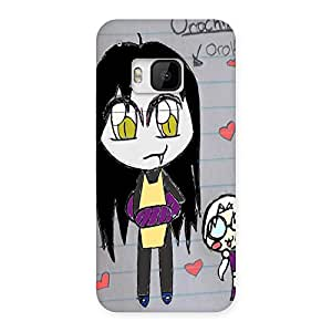 Ajay Enterprises Funny Drawing Back Case Cover for HTC One M9