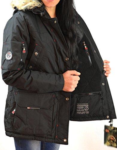 GEOGRAPHICAL NORWAY Winterjacke Alaska Damen Parka schwarz Grösse L -