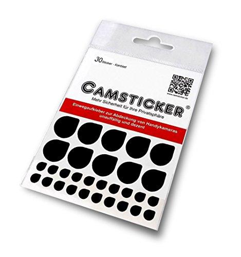 30 Stk. CAMSTICKER® Ø6mm & Ø15mm- KOMBI-SET - schwarz MATT - Kamera Aufkleber für integrierte Miniwebcams - Für Smartwatch, Handy, Tablet, Notebook, Laptop, Monitor & Fernseher