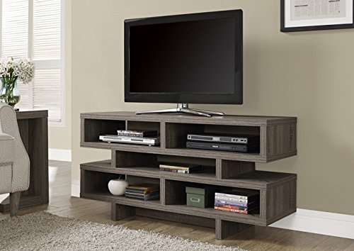 Monarch Specialties Dark Taupe Reclaimed-Look Hollow-Core TV Console, 48-Inch (48 Inc Tv compare prices)