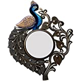 Ghanshyam Art Wood Peacock Wall Mirror (53.34 Cm X 4 Cm X 63.5 Cm, GAC062)