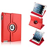 Tedim Orbit Leather 360 Case for Apple iPad Mini 2 with Retina Display - Red