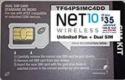 Net 10 Wireless Micro / Mini SIM Card for any Unlocked GSM Phone w/ $35 Airtime