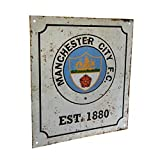 Manchester City FC Official Football Gift Retro Logo Sign - A Great Christmas / Birthday Gift Idea For Men And Boys