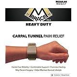 M BRACE RCA - HEAVY DUTY - Carpal Tunnel Treatment Wrist Support Regular Black Beige Regular