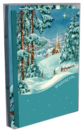 Tree-Free Greetings Winter Wonderland Holiday Boxed Cards, 5 x 7 Inches, 12 Cards and Envelopes per Set, Multi-Color (91176)