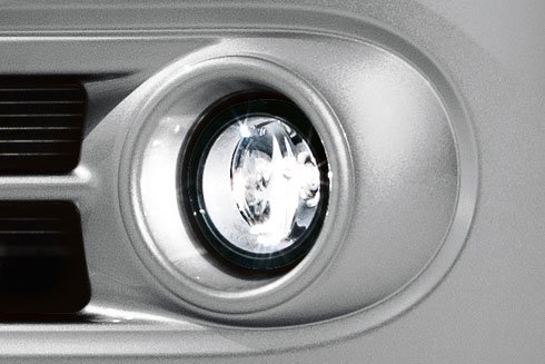 100W Halogen 6 inch Driver side WITH install kit -Black 2010 Nissan CUBE Post mount spotlight