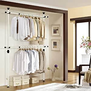 Amazon.com: Double Adjustable Hanger (One Touch) / Clothing rack: Home