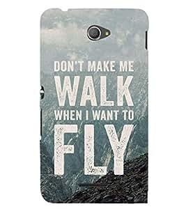 EPICCASE Don't make me walk Mobile Back Case Cover For Sony Xperia E4 (Designer Case)