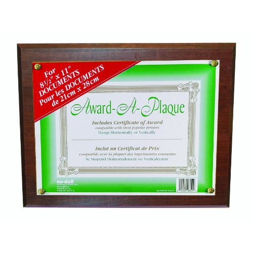 Nudell Award Plaque 13 X 10.5 Inches Walnut (18811M) front-848930