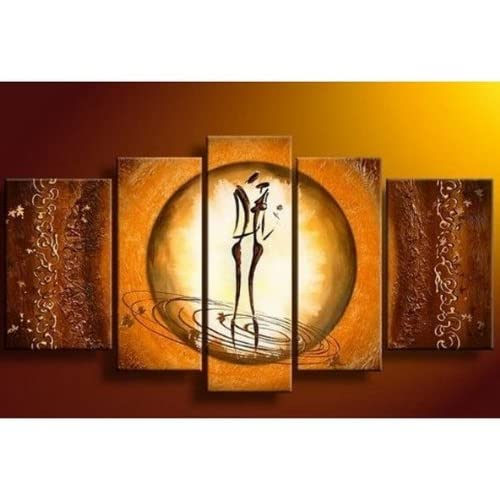 100 hand painted oil painting 5 pieces abstract canvas art african