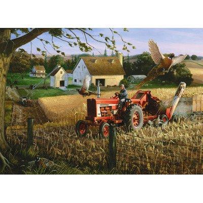 Masterpieces PuzzleCompany Farmall Field Of Plenty Jigsaw Puzzle (1000-Piece), Art By Charles Freitag