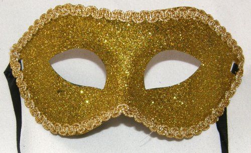 Gold Glitter Party Carnivale Halloween Mask