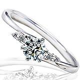 [ミワホウセキ] miwahouseki プロポーズ 婚約指輪 プラチナ 最高の輝きを放つ ダイヤモンド 0.2ct 鑑定書付 9号 [M297D]