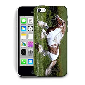 Snoogg Hairy Horses Printed Protective Phone Back Case Cover For Apple Iphone 6 / 6S