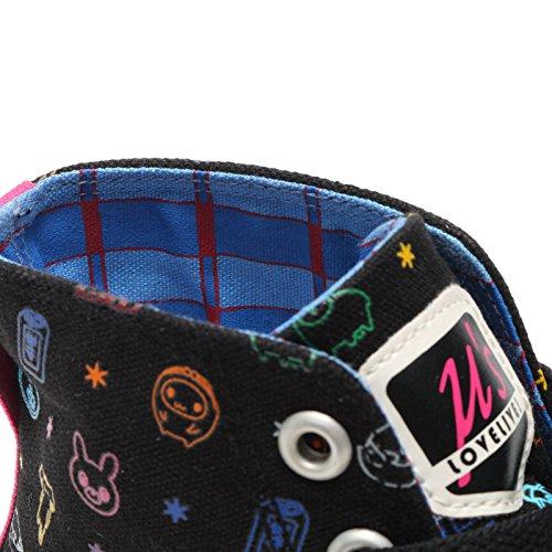 ラブライブ!× UBIQ コレクション μ's BLACK MULTI スニーカー 28.0 US10.0