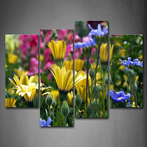 Many Kinds Of Flowers Together Wall Art Painting The Picture Print On Canvas Flower Pictures For Home Decor Decoration Gift