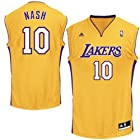 NBA Adidas Los Angeles Lakers Steve Nash Youth Extra Large Revolution 30 Gold Jersey (Size 18-20)