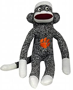 NCAA Clemson Tigers Plush Sock Monkey at 'Sock Monkeys'