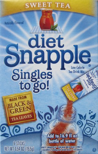 "DIET SNAPPLE ""Sweet Tea"" Singles to go 6 sticks per Pack (Pack of 6)"