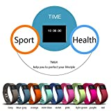 iTontek® TW64 Bluetooth V4.0 Smart Watch Sport Bracelet Wristband Gym Running Pedometer Fitness Activity Tracker Reminder for IOS 6.1+version, Android 4.3+version - Pink