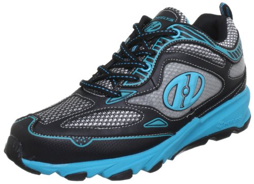 Heelys SWIFT 7972, Unisex-Kinder Sneaker, Schwarz (Black/Aqua), EU 38 (US 6)