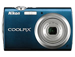 Nikon Coolpix S230 10MP Digital Camera with 3x Optical Zoom and 3 inch Touch Panel LCD (Night Blue)