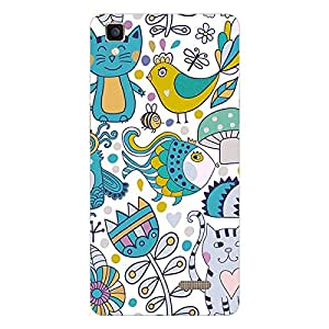 Garmor Designer Silicon Back Cover For Reliance Lyf Water 4