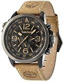 Timberland - TBL.13910JSBU/02 - Campton - Montre Homme - Quartz Analogique - Cadran Noir - Bracelet Cuir Marron