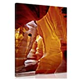 Canvas Picture Antelope Canyon ( Arizona - USA ) - ready framed 100% Made in Germany! on request with individual dedication - art on canvas, Pictures completely framed on large frame.