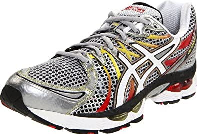 ASICS Men's GEL-Nimbus 13 Running Shoe,Lightning/White/Fire,7 (4E) US