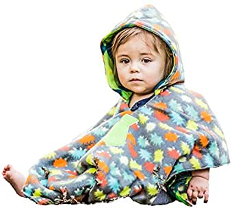 boys traveling car seat poncho reversible warm blanket safe use over seat belts. Black Bedroom Furniture Sets. Home Design Ideas