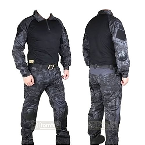 AIRSOFT GEN 2 SHIRT TROUSERS SET KRYPTEK TYPHON 32-34 / LARGE KNEE PADS UK