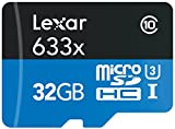 Lexar High-Performance MicroSDHC 633x 32GB UHS-I/U3 Flash Memory Card LSDMI32GBBNL633R