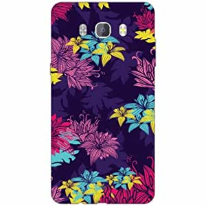 Samsung J7 new edition 2016 Back Cover - Silicon Flowers Art Designer Cases