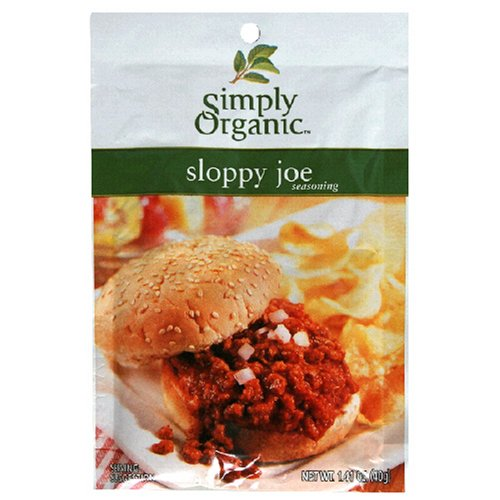 Simply Organic Sloppy Joe Seasoning Mix Certified Organic 1 41 Ounce Packets Pack of 12