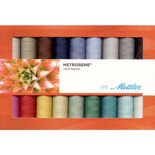 Mettler Thread Metrosene Plus 100% Polyester Sewing Set; 18 Spools Basic Colors ME181161