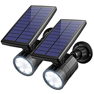 AMIR ソーラーライト LED センサーライト 屋外照明 夜間自動点灯 高輝度 800ルーメン ワイヤレス