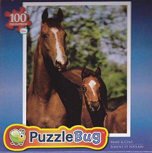 Puzzlebug 100 Piece Puzzle ~ Mare & Colt - 1