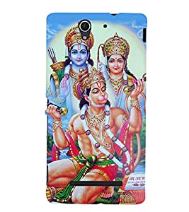 Lord Hanuman 3D Hard Polycarbonate Designer Back Case Cover for Sony Xperia C3 Dual :: Sony Xperia C3 Dual D2502