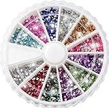 Nail Art Kit / Set d'accessoires pour manucure / pedicure pour déco d'ongles par Cheeky: 2400 nailart strass de différentes couleurs.