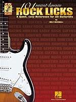 101 MUST KNOW ROCK LICKS TAB BOOK/CD