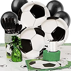 Soccer Party Supplies Kit for 8