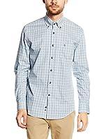 Caramelo Camisa Hombre (Turquesa / Blanco)
