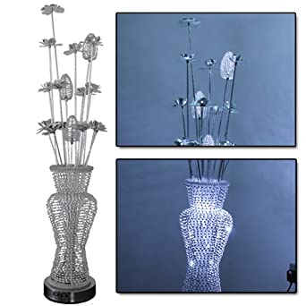 Costmad modern stylish metal floral design flower table for Aluminium flower floor lamp in silver red