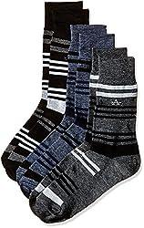 Arrow Men's Striped Knee-high Socks (Pack of 3) (8904135502403_Multicoloured)